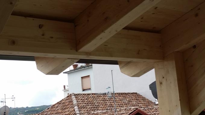 Realizzazione sottotetto abitabile in legno lamellare for Sottotetto in legno